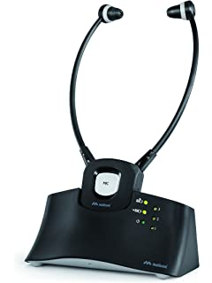 Meliconi HP STETO - Auricular inalámbrico TV + Base de Recarga, 20 m.