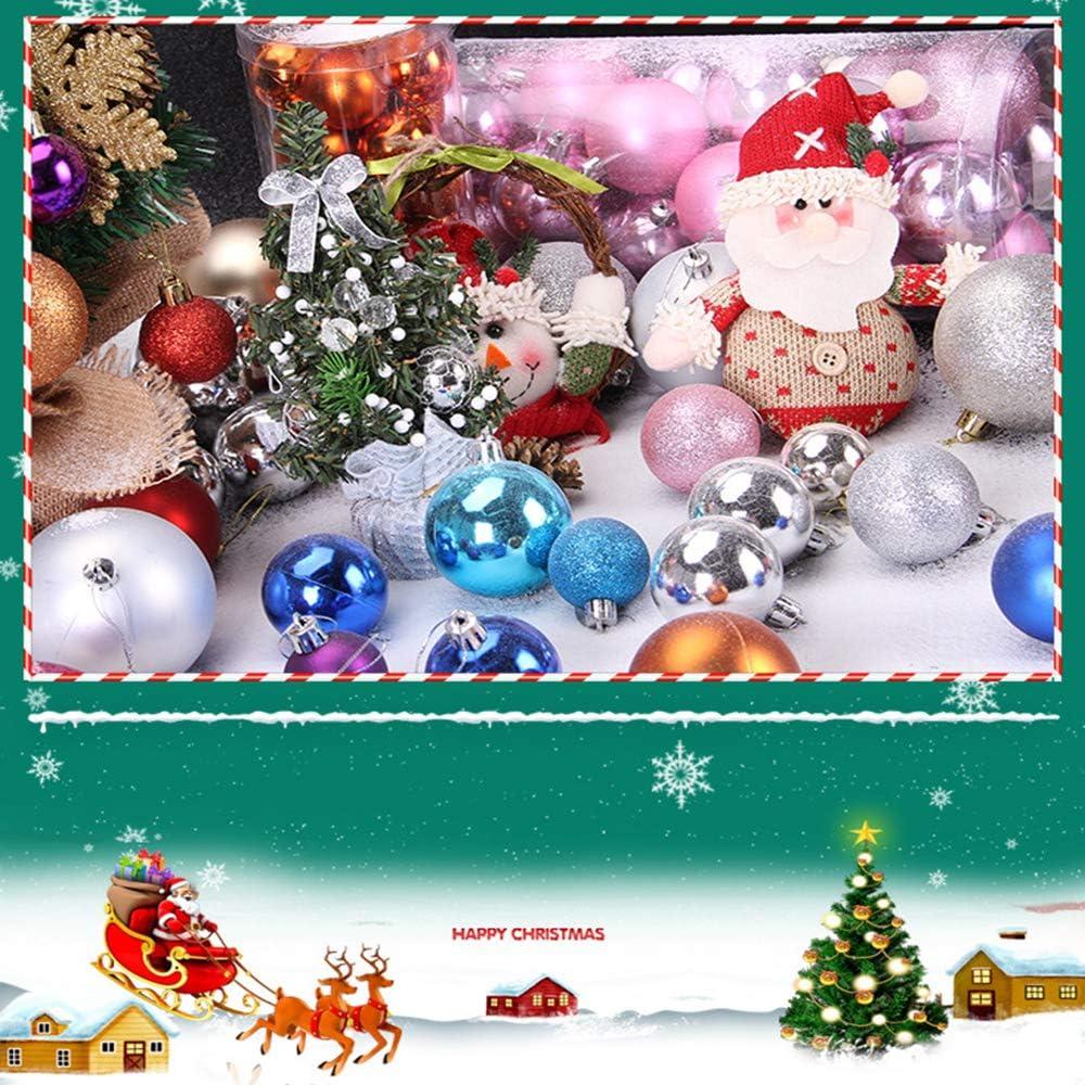 Christmas Balls Ornaments for Xmas Tree 24Pcs 4cm Christmas Ball Ornament Baubles Xmas Tree Window Hanging Decor Champagne