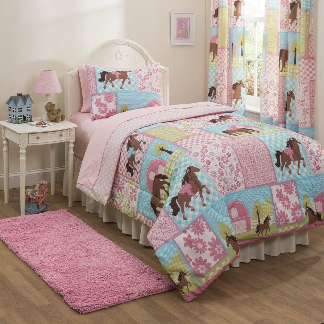 Amazon Com Girls Pony Country Horse Full Comforter Sheets