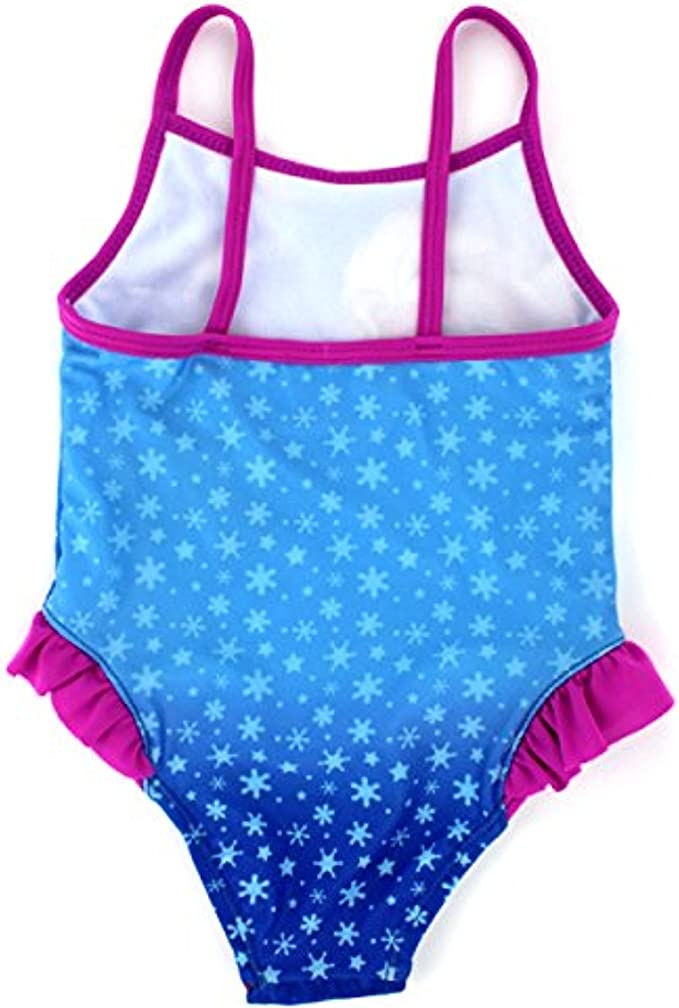 Disney FROZEN ELSA and ANNA Swimsuit One Piece Bathing Suit For Girls SZ 3,SZ 5
