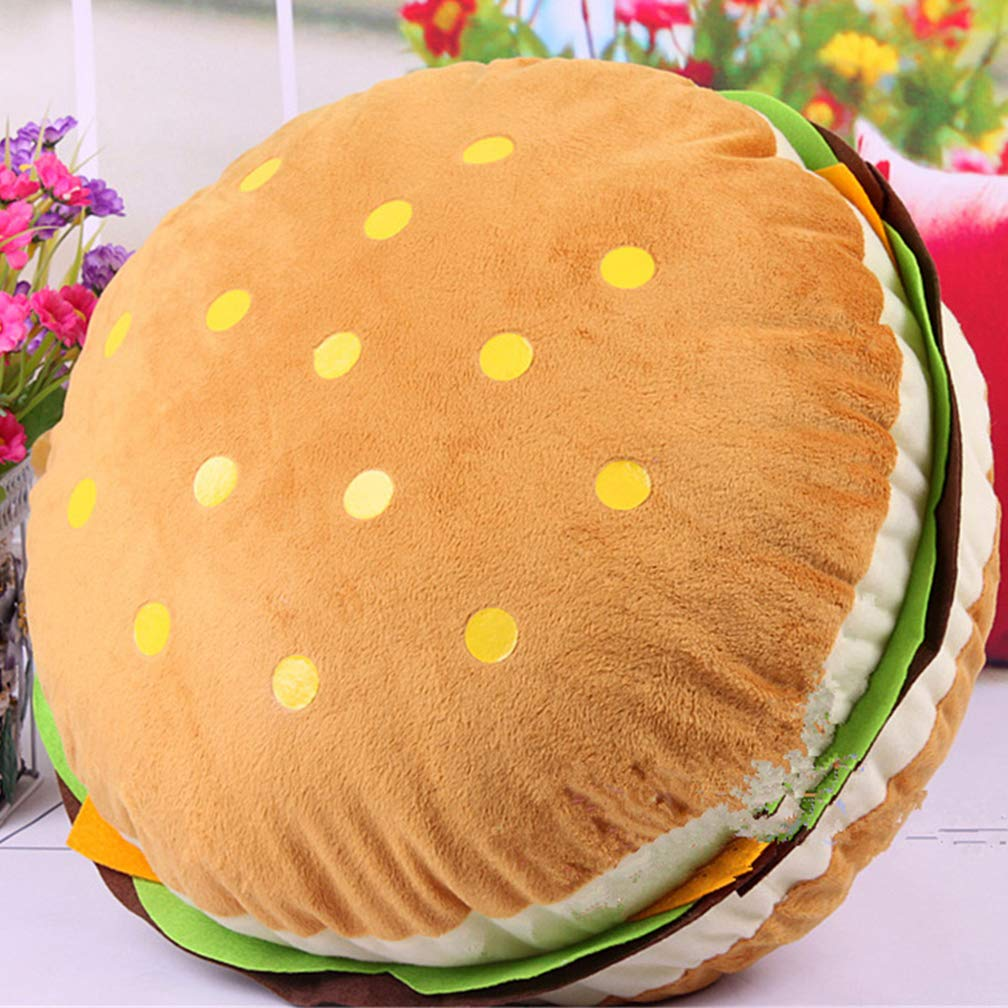 VVLOVE Hamburger Kissen, lebendiges Cheeseburger-Kissen, gefü lltes Spielzeug Sofa Kissen Bü ro-Kissen