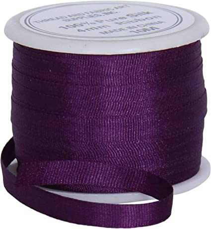 15 metres Assorted Colours 4mm Pure Silk Ribbon Embroidery Craft PLEASE READ!