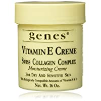 Genes Vitamin E Creme Swiss Collagen Complex Moisturizing Creme for Dry and Sensitive...