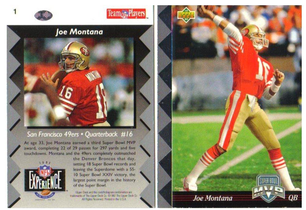 ジョーモンタナサンフランシスコ49ers MVP Super Bowl Super MVP B0047LIEUQ Exclusiveボックスセットフットボールカード B0047LIEUQ, e-キッチンマテリアル:cf46f62c --- harrow-unison.org.uk