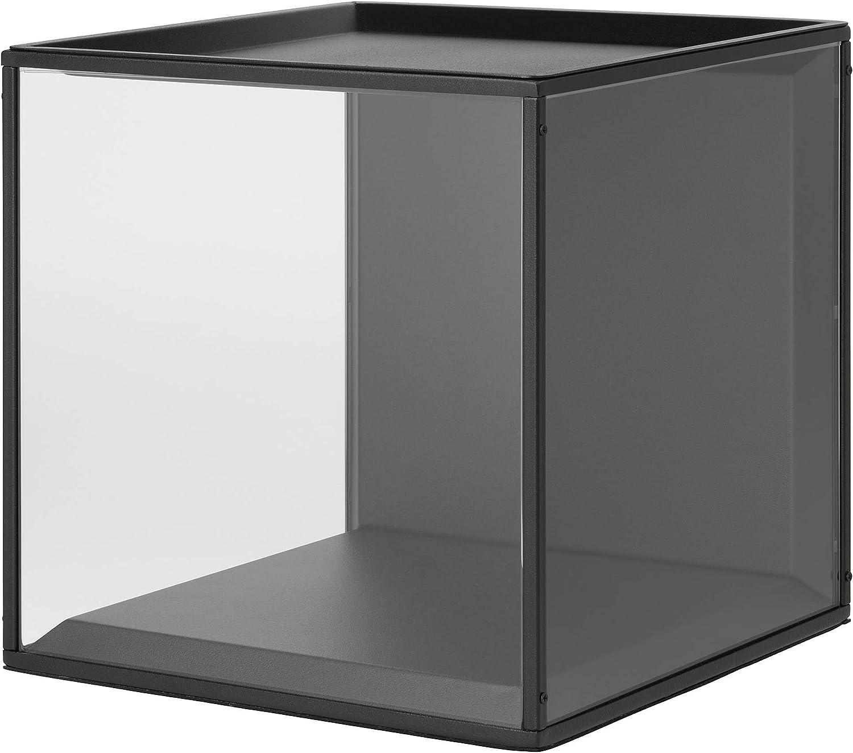Ikea Asia Sammanhang Vitrine Mit Deckel Aus Schwarzem Glas Amazon