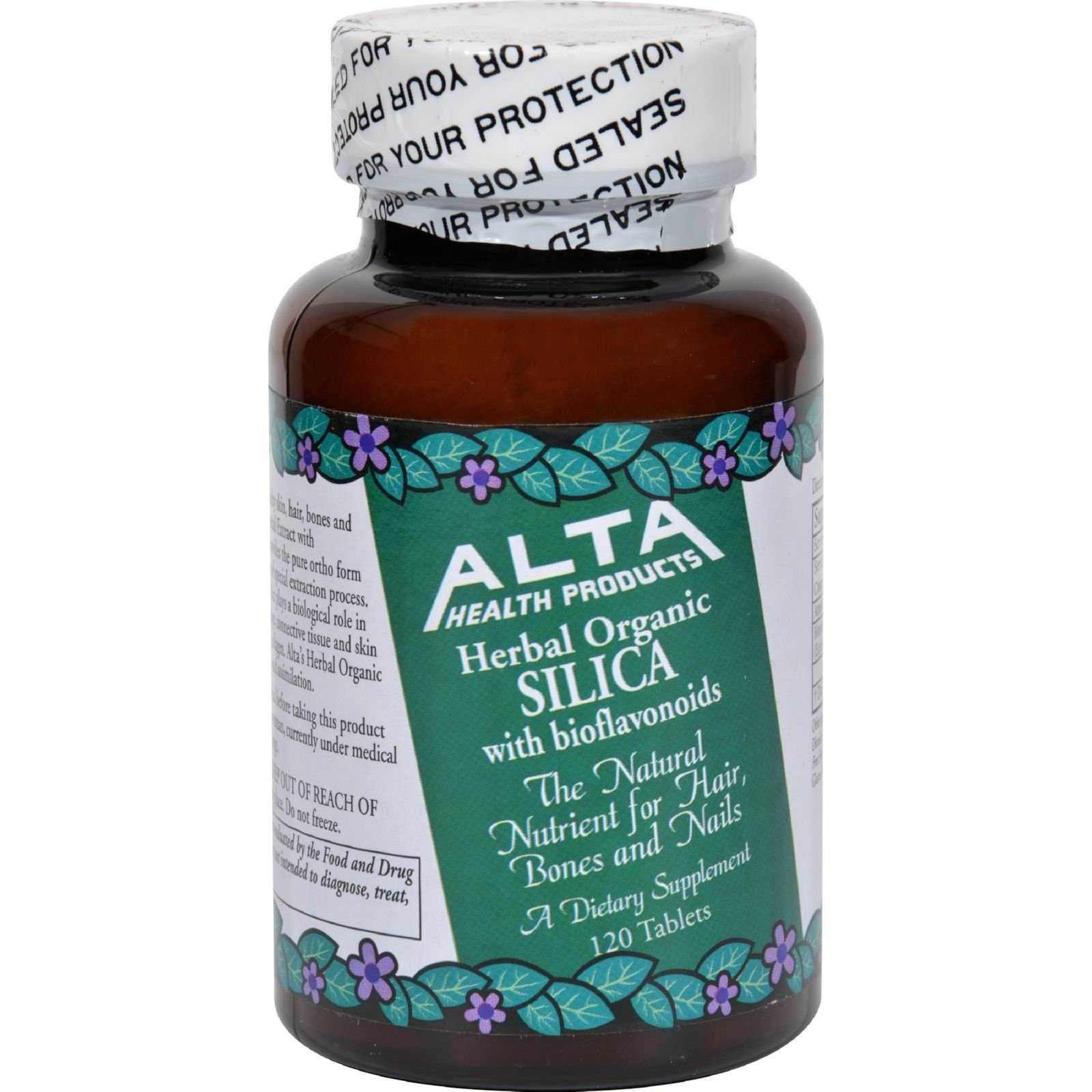 Alta Health Products Silica With Bioflavonoids - 500 mg - 120 Tablets (Pack of 4)