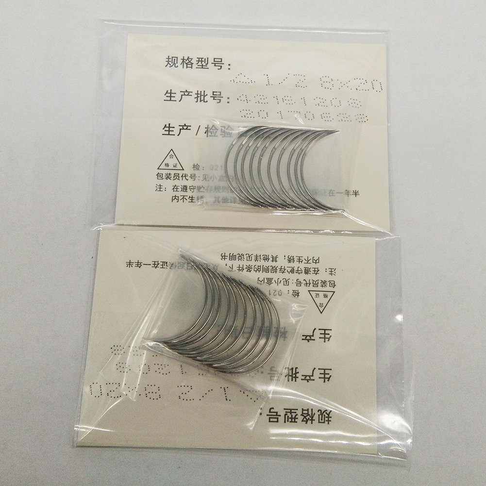100 pcs 1/2 Circle Suture Needle Cutting & Round 8x20 (Cutting)