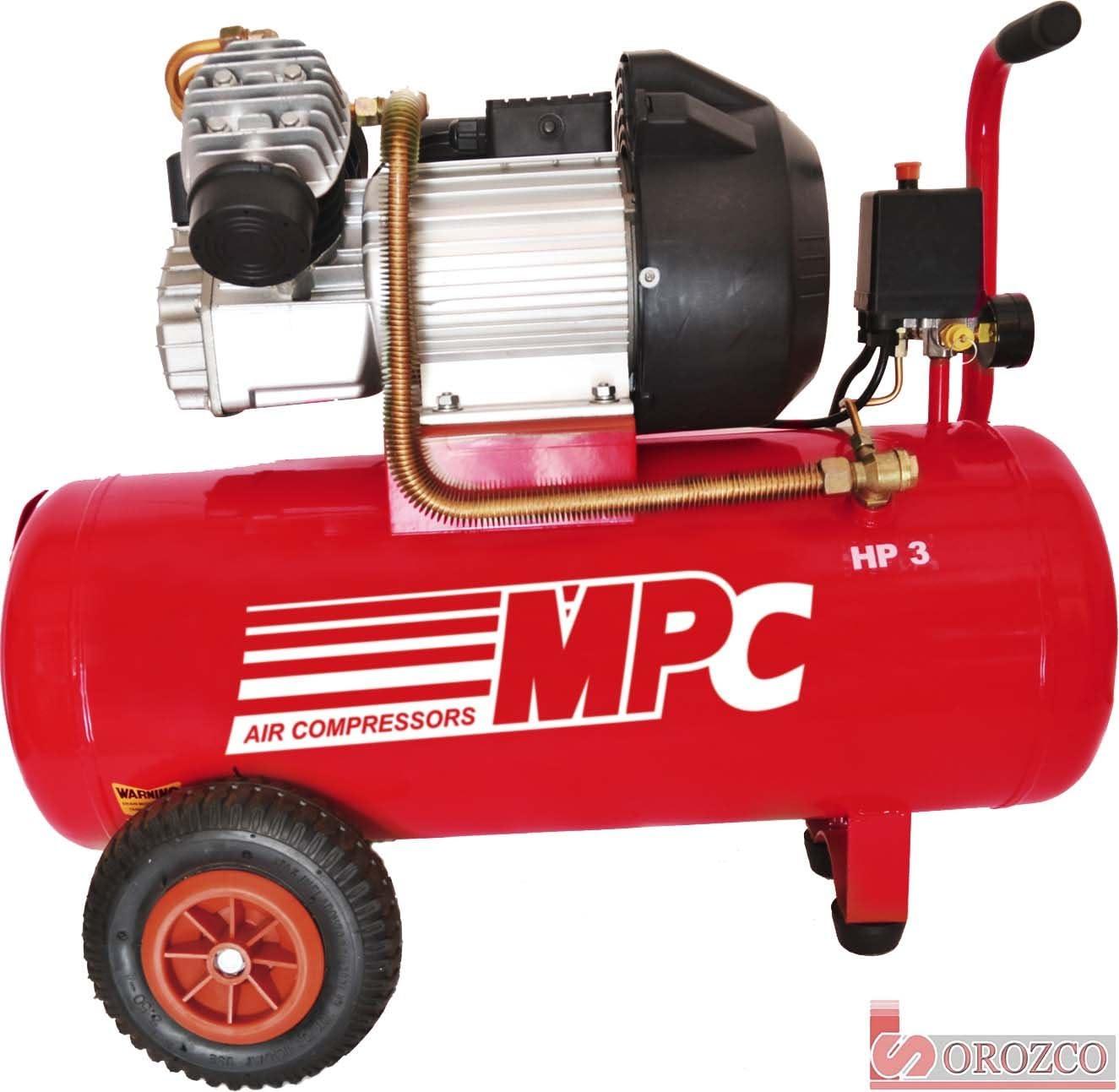 Compresor de aire 230v 3cv 50 litros MPC CDV-350: Amazon.es ...