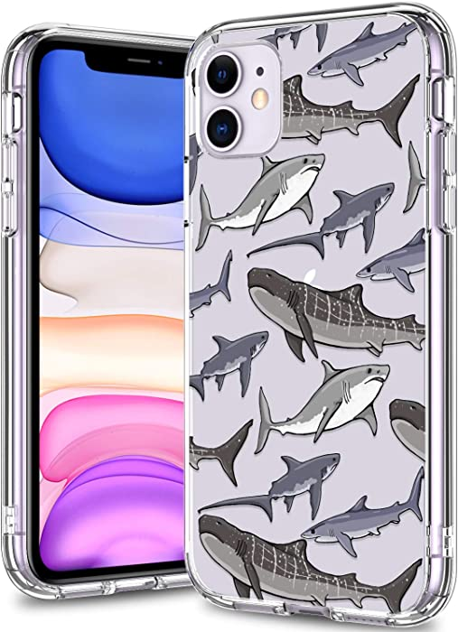 BICOL iPhone 11 Case Clear with Design for Girls Women,12ft Drop Tested,Military Grade Shockproof,Slip Resistant Slim Fit Protective Phone Case for Apple iPhone 11 6.1 inch 2019 Whales