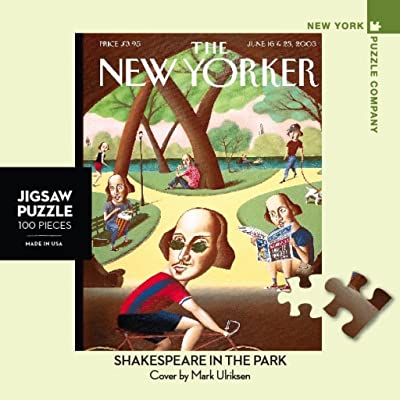 New York Puzzle Company - New Yorker Shakespeare in The Park - 100 Piece Jigsaw Puzzle: Toys & Games