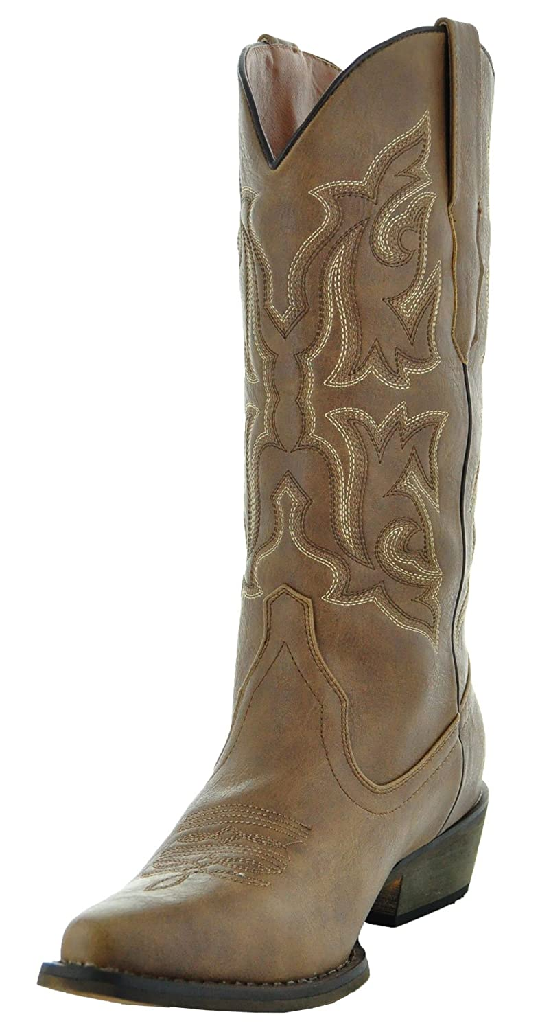Country Love Pointed Toe Women's Cowboy Boots W101-1001 B016OZR35E 5.5 B(M) US|Brown