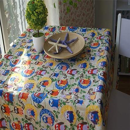 CJANY Mantel Lienzo Imprimir Lechuza Patrón Mesa De Comedor Almohadilla Mesa De Café Hotel Paño,