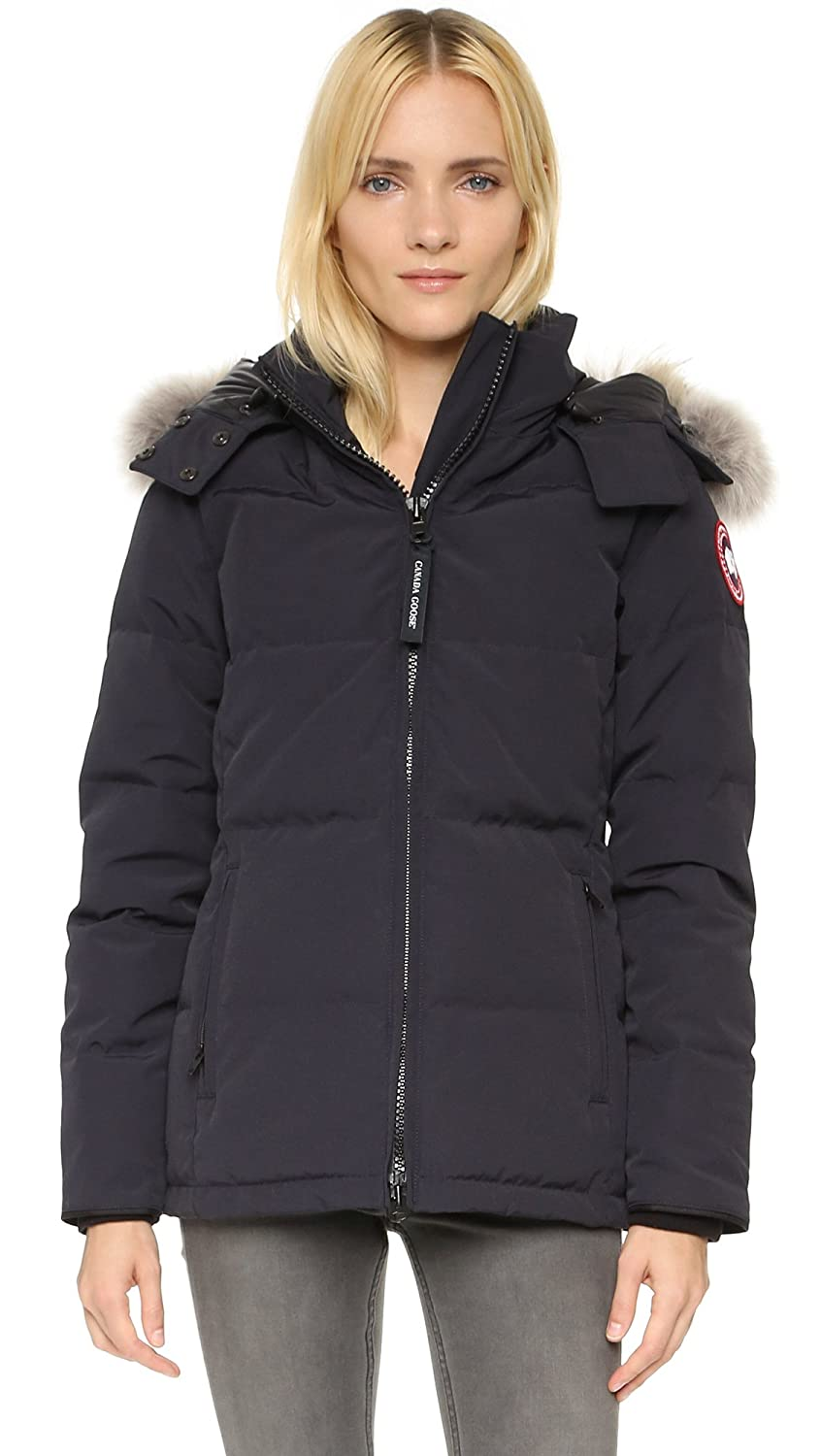 b3d06c468ae Amazon.com: Canada Goose Women's Chelsea Parka, Navy, XX-Small: Clothing