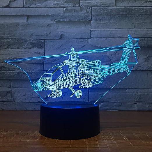 Ydwd7 Color Helicop Plano 3D Lámpara de Mesa de Escritorio Led ...