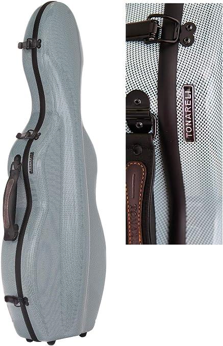 Tonareli - Estuche para violín fibra de vidrio 4/4 sonderausgabe Azul Grafito vnf1017 + ordenador funda - autorizado Comercial: Amazon.es: Instrumentos musicales
