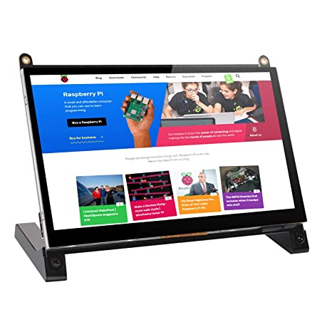 7'' inch Monitor Module 1024x600 IPS Display with Prop Stand Built-in Dual  Speakers HDMI 2 0 Plug and Play FPC for Raspberry Pi 3 B+ Model B Xbox PS4
