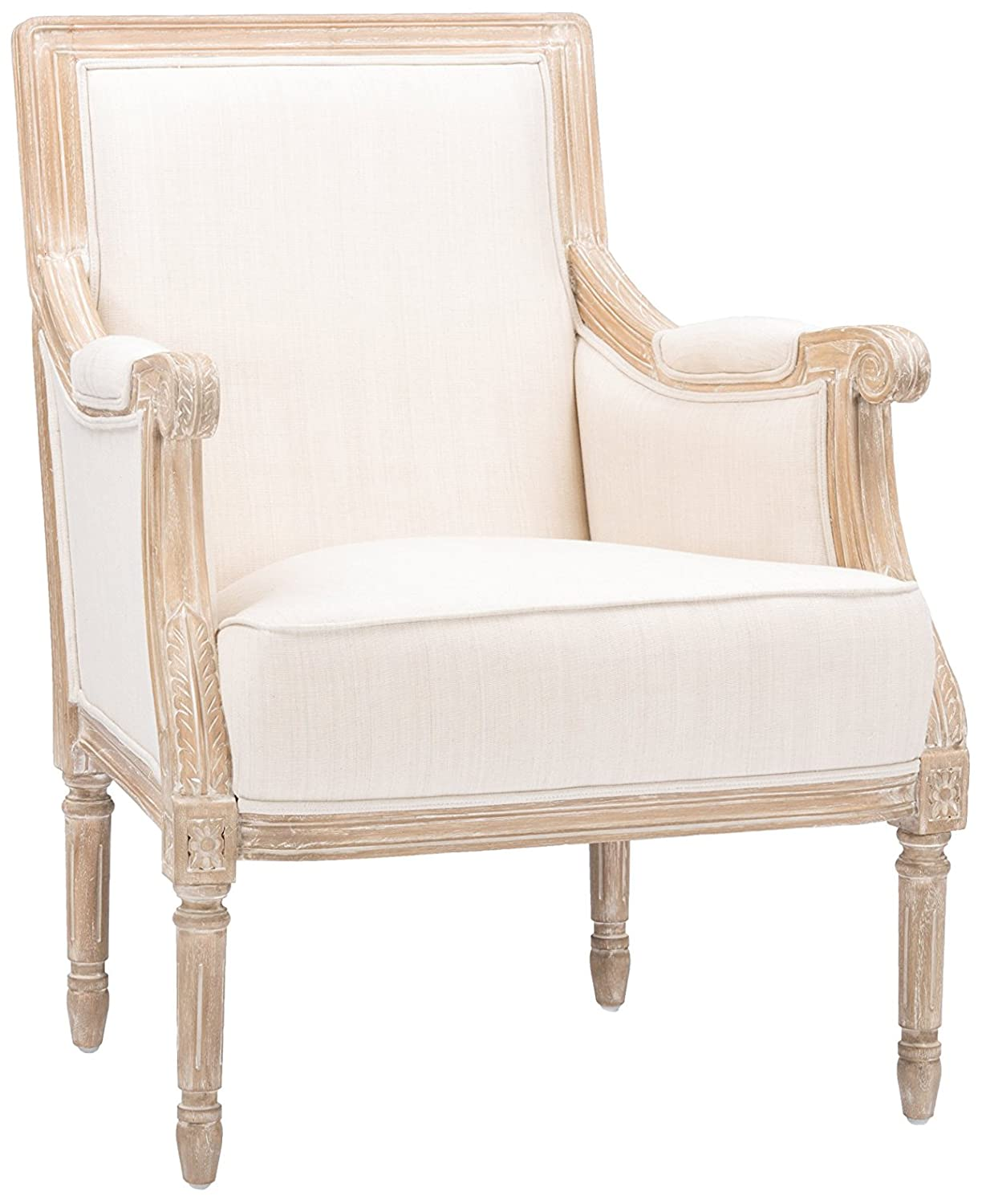 Chavanon Wood and Linen Arm Chair
