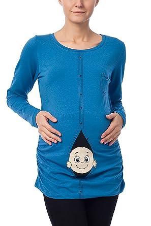 Divertido Moda premamá camiseta suéter Embarazo Regalo bebé Camisa: Amazon.es: Ropa y accesorios