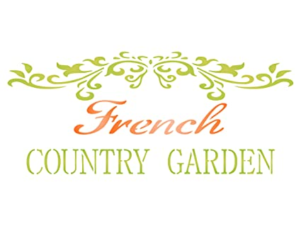 Beau French Country Stencil   10.5 X 4.5 Inch (M)   Reusable Vintage French  Garden