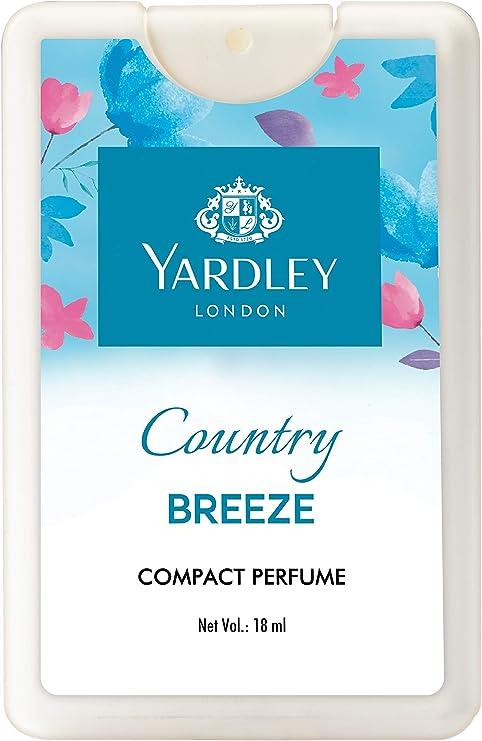 Yardley London Country Breeze Compact Perfume, 18ml Perfume at amazon
