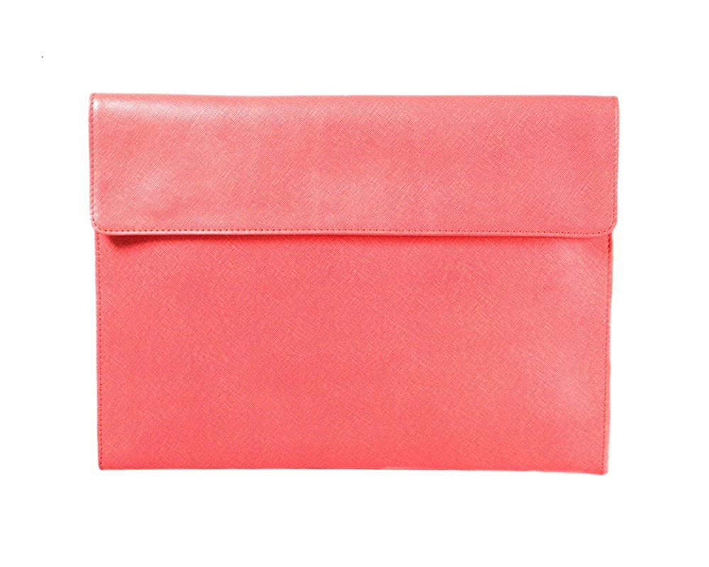 SAGEBROWN Pink Saffiano Envelope Folder B074WD8SBB