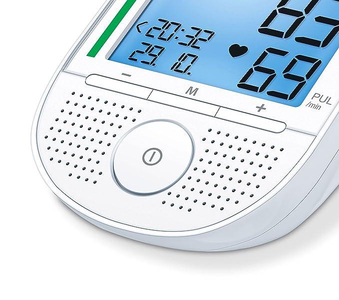 Beurer BM 49 - Tensiómetro de brazo con voz, indicador OMS, memoria 2 x 60 mediciones, idiomas de ajuste en español, inglés, portugués y griego: Amazon.es: ...