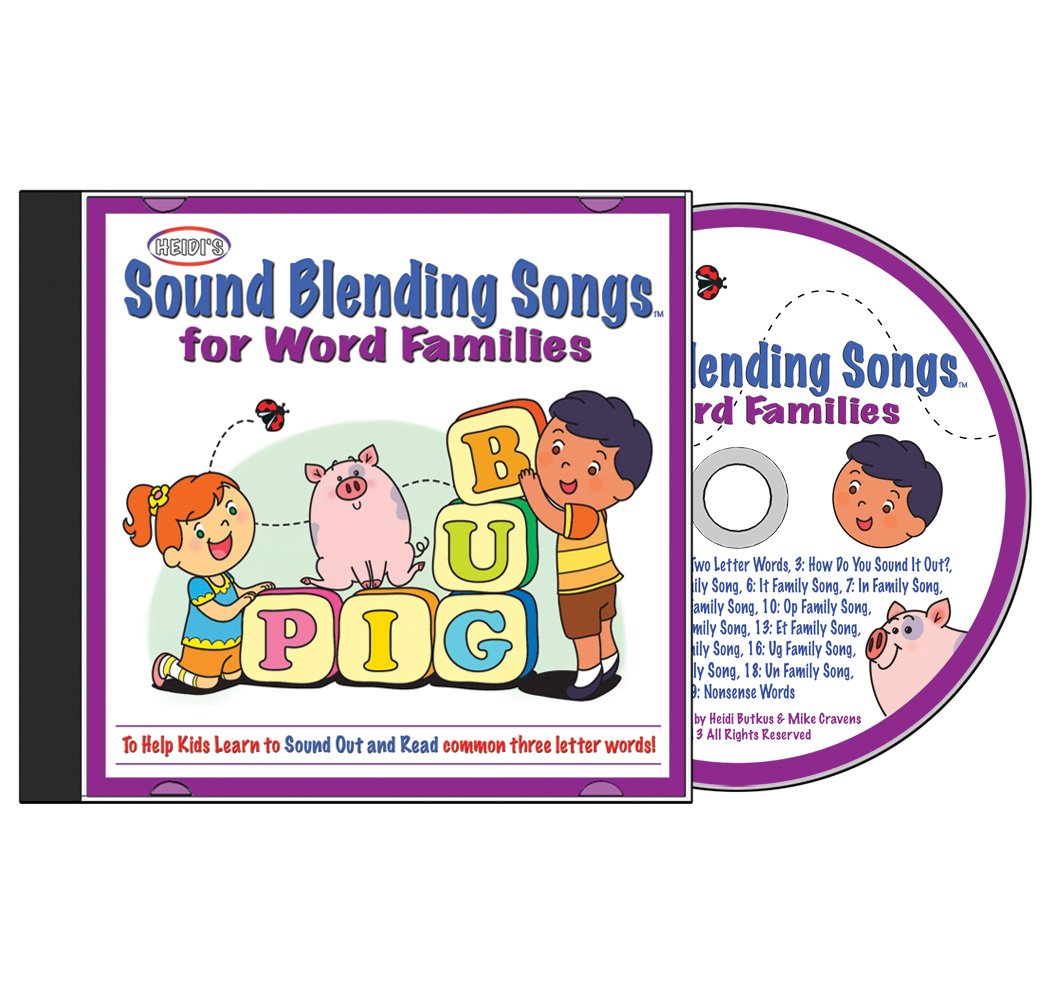 Sound Blending Songs For Word Families Cd Amazon Music