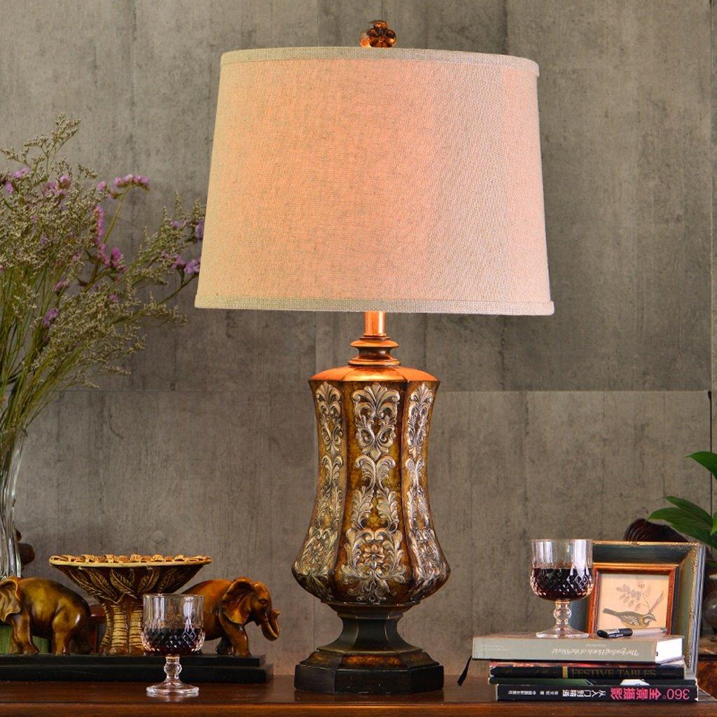 Hanlon E27-Schraubsockel, Tischlampe Amerikanisches Retro einfaches kreatives Wohnzimmer-Schlafzimmer-Nachttisch-Beleuchtung ( farbe : Knopfschalter )