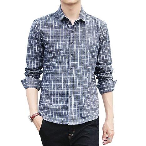 Camisa<BR>Camisas clásicas a Cuadros de Hombre, Camisa de ...