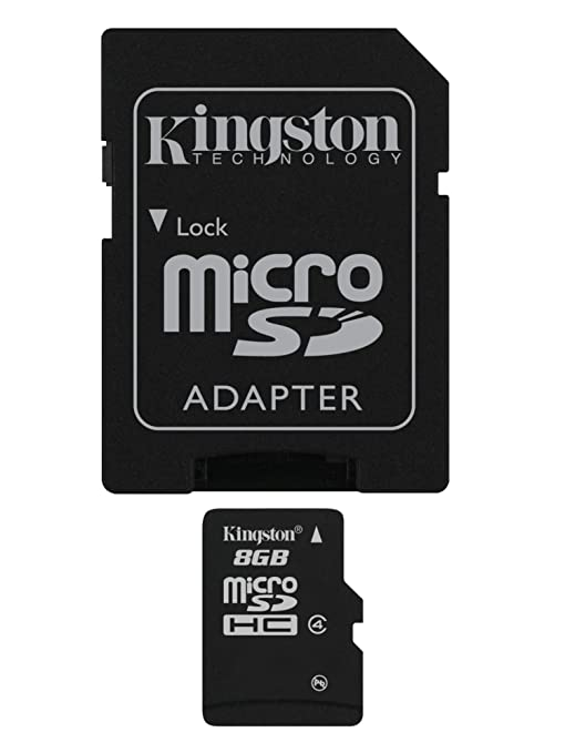 Kingston 8 GB microSDHC Class 4 Flash Memory Card SDC4/8GBET