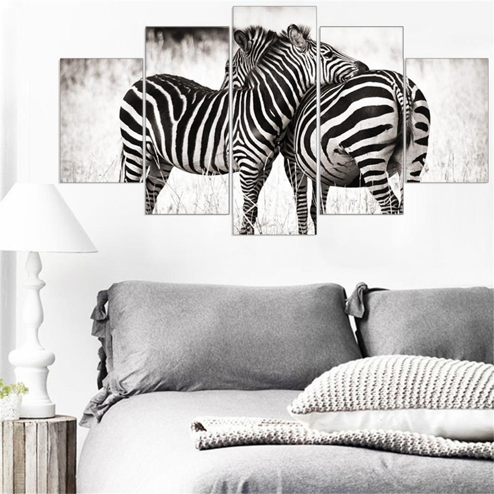 Giclée-Druck Extra Extra Extra große Leinwand Schwarz-Weiß Zebra Wohnzimmer dekorative Wandmalereien , With Borders , GrößeA B076P9T5KL   Verkauf  8699d0