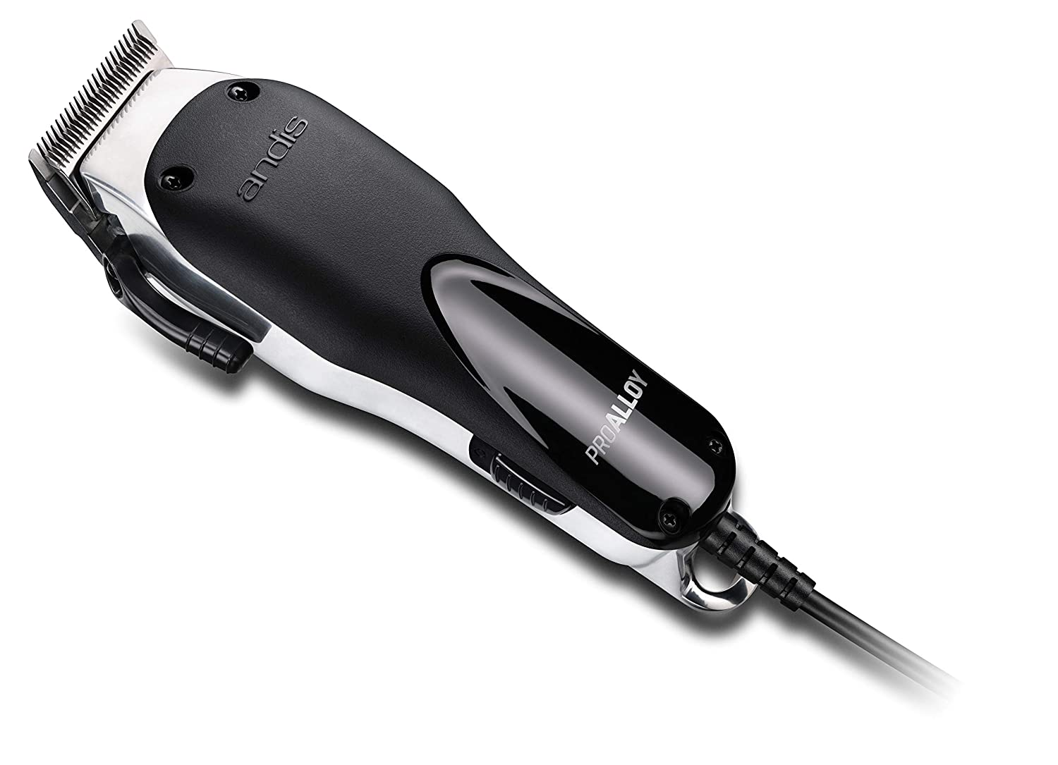 Andis 69100 ProAlloy Adjustable Blade Clipper, Whisper Quiet Performance, Extreme Temperature Reduction, Black/Chrome