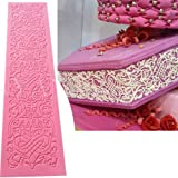 Anyana edible wedding lace cake silicone baking lace Mat fondant impression Texture lace decorating mold sugar craft…