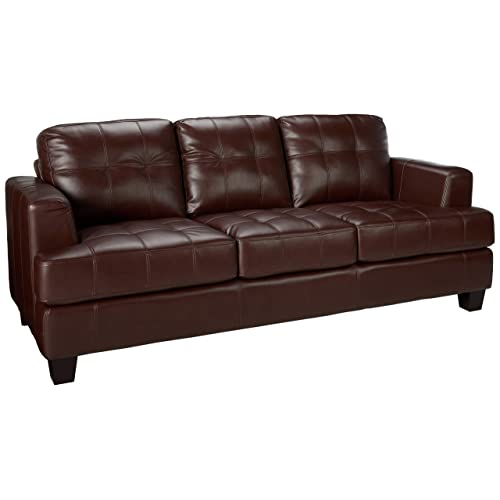 Brown Leather Couches Amazon Com