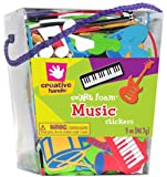 Fibre Crafts 89582E Creative Hands Foam Sticker Bucket, Music