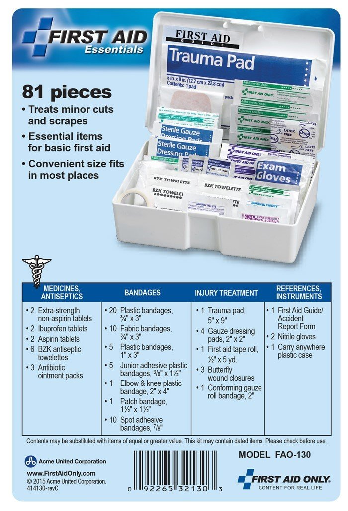First Aid Only All-purpose First Aid Kit, 81-Piece Kit (Pack of 3) by First Aid Only (Image #6)