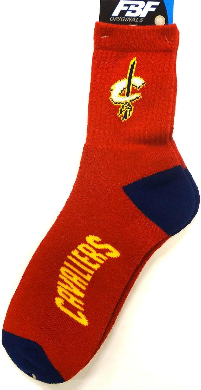 For Bare Feet Cleveland Cavaliers Team Color Quarter Sock Mens Size Medium 5-10