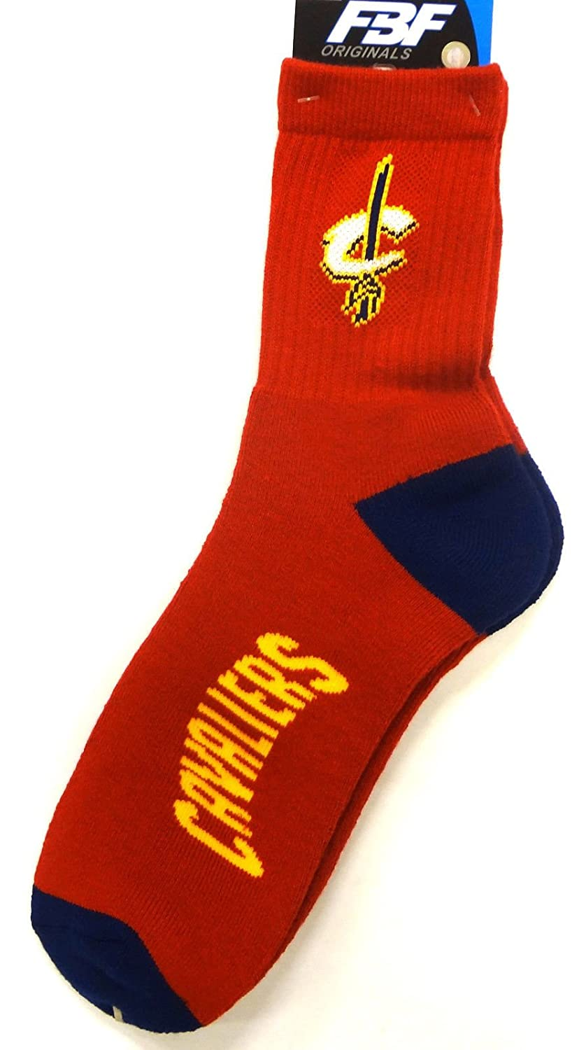 Cleveland Cavaliers Team Color Quarter Sock Mens Size Medium 5-10 For Bare Feet by Fore Bare Feet