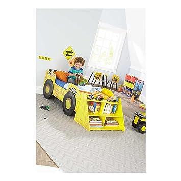 super popular ace5e 456e6 Amazon.com : New Tonka Truck Toddler Bed with Storage Shelf ...