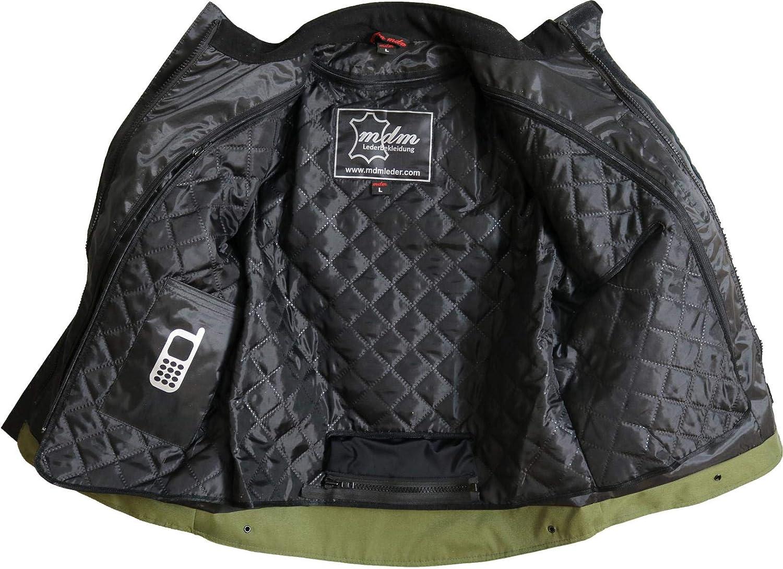 M Motorrad Textil Jacke Wind und Wasser dicht in Khaki Gr/ün