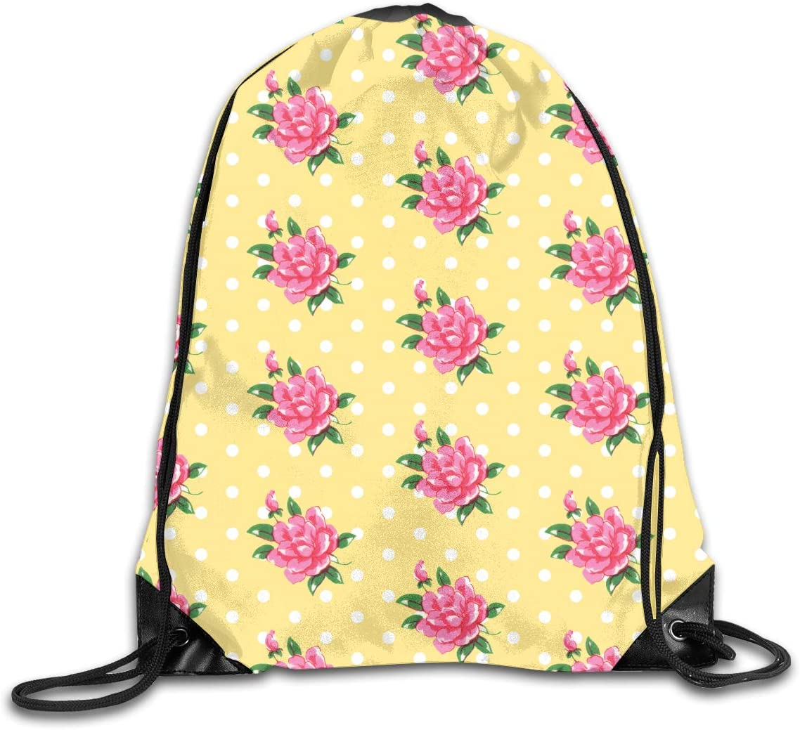 CoolStuff Travel Shoe Bags,Rose Citrine Drawstring Backpack Hiking Climbing Gym Bag,Large Big Durable Reusable Polyester Footwear Protection