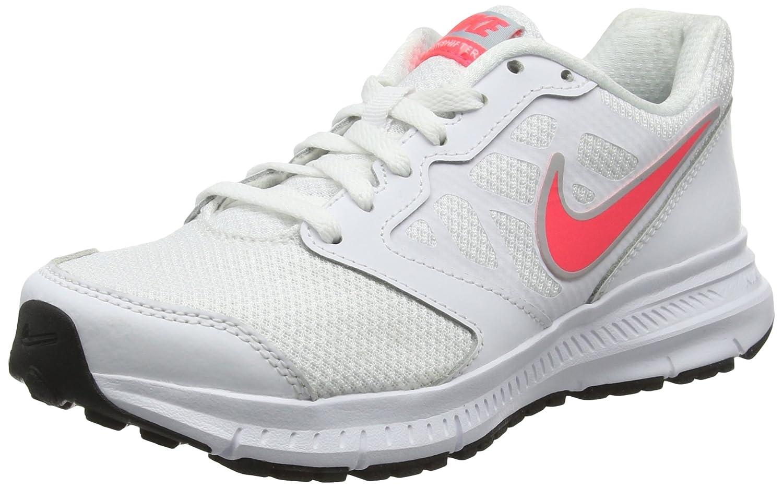 Nike Downshifter 6 Running Shoe B01GO5SFJW 8 B(M) US|White/Light Magnet Grey/Hyper Punch Swoosh