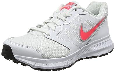 Nike Downshifter 6, Chaussures de Running Entrainement Femme, Blanc (White (White/Hyper Punch-Lite Magnet Grey) White/Hyper Punch-Lite Magnet Grey), 41