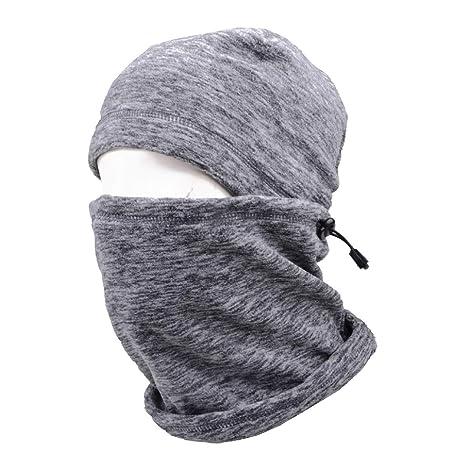 TRIWONDER Cappellino da Passamontagna Cappello Termico in Pile Maschera  Viso Scaldacollo Invernale Maschera da Sci Cappuccio 0c791548831c