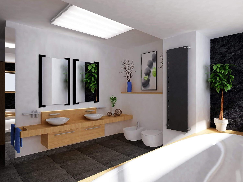 Bathroom Rectangular Framed Wall Mounted Vanity Mirror Black Makeup Mirror Hangs Horizontal or Vertical