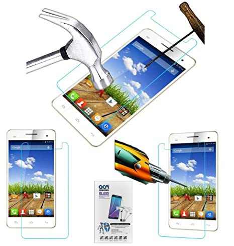 Acm Tempered Glass Screenguard for Micromax A190 Screen Guard Scratch Protector Screen guards
