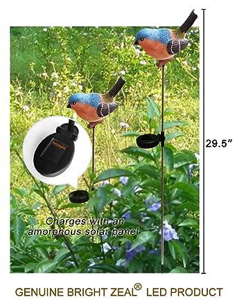 Bright Eifer 76 Cm Led Vogel Figuren Farbwechsel Solar Erdspieß