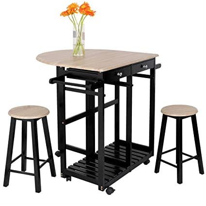 Marvelous Amazon Com Tg888 Modern Rolling Dining Table Cart Kitchen Cjindustries Chair Design For Home Cjindustriesco