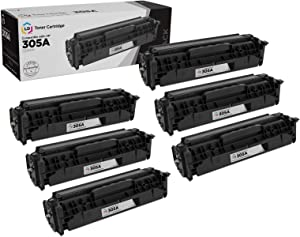 LD Remanufactured Toner Cartridge Replacement for HP 305A CE410A (Black, 6-Pack)
