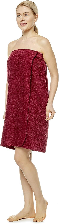 100/% Turkish Organic Terry Cotton Arus Womens Towel Wrap L//XL Grey